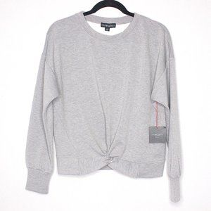 CYNTHIA ROWLEY Front Faux Knot tie Sweater L NWT